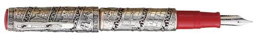 Omas Limited Editions - Jerusalem - Year: 1996 - Sterling Silver - Edition: 3,000 Pens - Fountain Pen