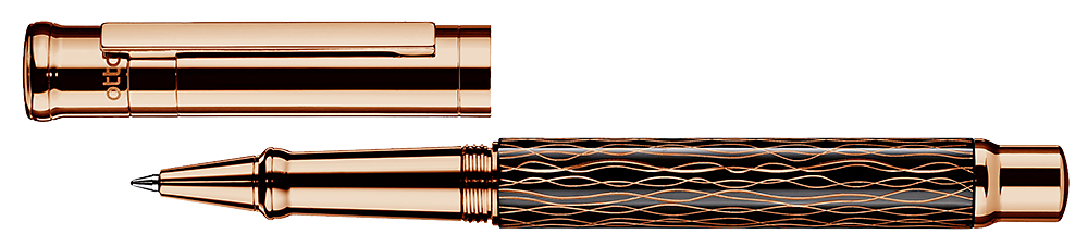 Black Wave & Rose Gold  finish - Rollerball shown
