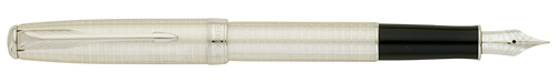 Sterling Silver CT finish - Fountain Pen- 18kt gold nib shown