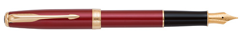 Red Lacquer  finish - Fountain Pen  - Gold Plated Nib shown