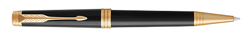 Lacquer Deep Black GT finish - Ball Pen shown