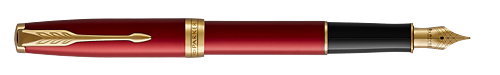 Red Satined Lacquer finish - Fountain Pen shown