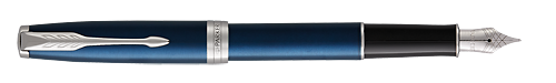 Blue Satined Lacquer finish - Fountain Pen shown