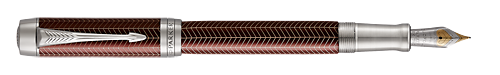 Burgundy Chevron  finish - Centennial Fountain Pen shown