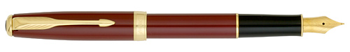 Red Lacque GT finish - Fountain Pen-Gold-Plated Nib shown