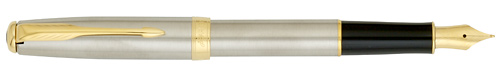 Stainless Steel GT finish - Fountain Pen-Gold-Plated Nib shown
