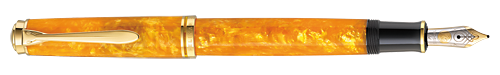 Orange finish - Fountain Pen (14Kt Gold Nib) shown