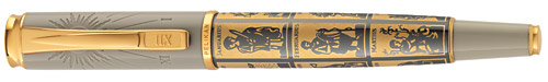 Pelikan Limited Editions - Calculation of Time - Year: 2008 - Gold/Grey - Edition: 760 Pens - Fountain Pen
