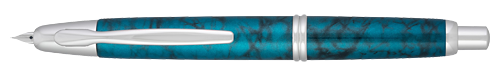Pilot & Namiki Limited Editions - Vanishing Point - Year: 2019 - Tropical Turquoise   - Edition: 2019 Pens - Fountain Pen (18kt Gold Nib)