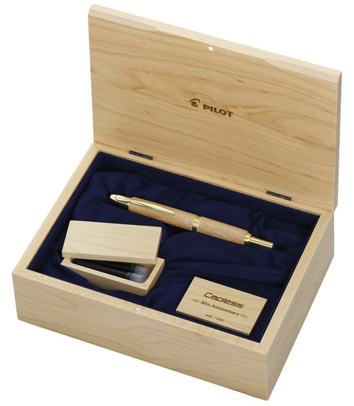 Pilot & Namiki Limited Editions - 50th Anniversary Wood Vanishing Point - Year: 2013 - Maple Wood  - Edition: 900 Fountain Pens