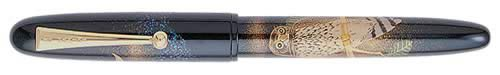 Pilot & Namiki Limited Editions - Owl - Year: 2002 - Maki-e/Raden Abalone(Only 150 Pens USA) - Edition: 450 Fountain Pens - Fountain Pen-18 Kt Gold Nib