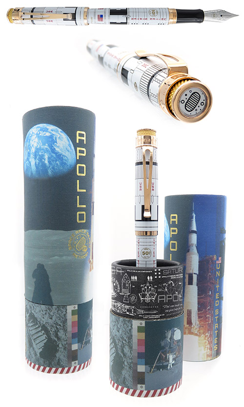 Retro 51 Limited Editions - Tornado Popper Apollo - Year: 2019 - Apollo 11  - Edition: 1151 Pens - Fountain Pen