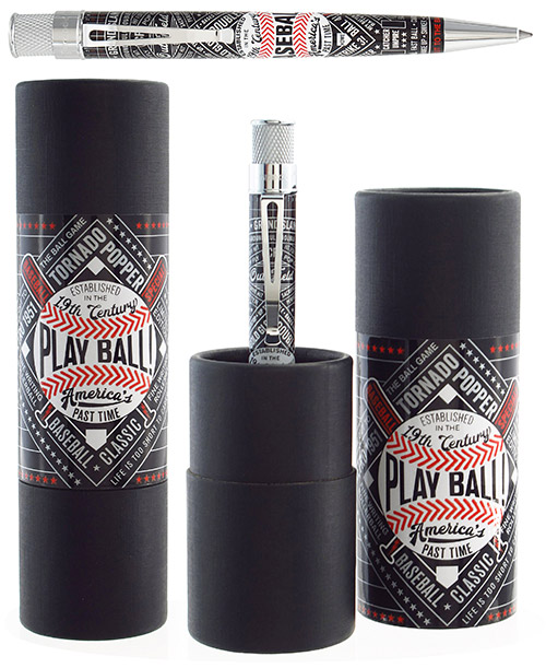 Retro 51 Limited Editions - Tornado Popper Play Ball! - Year: 2017 - Baseball - Edition: 842 Pens - Rollerball