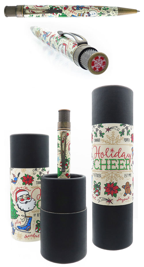 Retro 51 Limited Editions - Tornado Popper Holiday Cheer - Year: 2018 - Christmas  (SOLD OUT) - Edition: 918 Pens - Rollerball