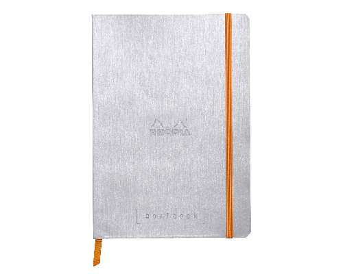 Silver - Dot Grid 5 3/4 in. x 8 1/4 in. finish - Notebook shown