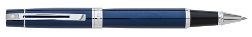 Blue Lacquer Chrome Trim finish - Rollerball shown