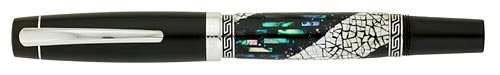 Taccia Limited Editions - Snowy Dreams - Year: 2010 - Maki-e with Abalone - Edition: 15 Rollerballs - Rollerball