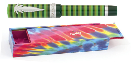 Think Limited Editions - Hippie - Year: 2012 - Green Stripe/Leaf Clip - Edition: 888 Fountain Pens - Fountain Pen