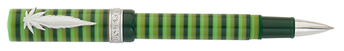 Think Limited Editions - Hippie - Year: 2012 - Green Stripe/Leaf Clip - Edition: 888 Rollerballs - Rollerball