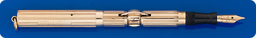 Conklin #2 Size - Gold Filled Crescent Filler  - Engraved James Poulos  -A Few Minor Dings