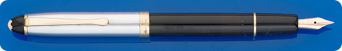 Montblanc #444 - Black Barrel - Chrome Cap - Piston Fill -