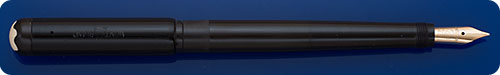 Montblanc #4 Black Safety Pen - Retractable Nib - Eyedropper Fill