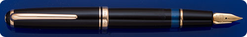 Montblanc #256 Black - Gold Filled Trim - Piston Fill - Blue Ink Level Window
