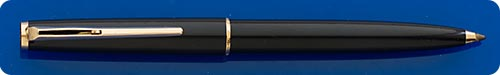 Montblanc #380 Black Ball Pen - Clip Activiated - Gold Filled Trim