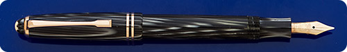 Montblanc #244 Gray Striated Arco Celluloid - Piston Fill - Gold Filled Trim - Fabulous And Desirable Pen