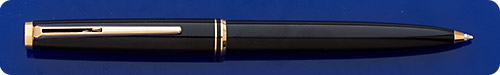Montblanc #281 - Black Ball Pen - Gold Filled Trim - Clip Activated