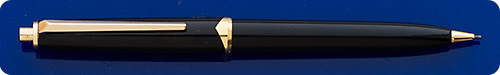 Montblanc #161 Black Pencil - Gold Filled Trim - Button Activated