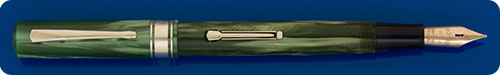 Gold Bond - Green Swirl - Lever Fill - Gold Filled Trim - Apparently Made By Waterman As Pen & Nib Design Is Identical  To Waterman