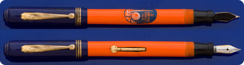 Misc Avon - Orange And Blue - Lever Fill - Imprinted NY  Worlds Fair On Barrel