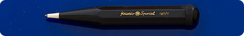 Kaweco Special #187/1 Black Hard Rubber Pencil -  Octagon ( 8 Sided)1.1 Lead