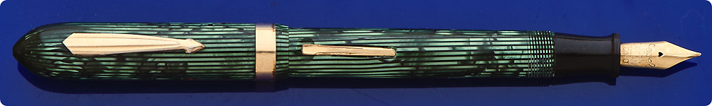 Misc John Holland - Green Stripe - Lever Fill - Gold Filled Trim