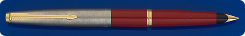 Parker #45 - Red Barrel - Brushed Chrome Cap - Cartridge Or Converter Fill - Converter Included