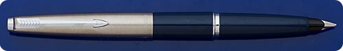 Parker #45 - Blue Barrel - Chrome Cap - Cartridge Or Converter Fill - Converter Included