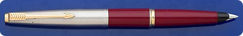 Parker #45 - Burgundy Barrel - Chrome Cap - Cartridge Or Converter Fill - Converter Included - New In Box - Never Filled