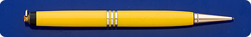 Parker Ladies Duofold Mandarian Yellow Pencil - Gold Filled Trim