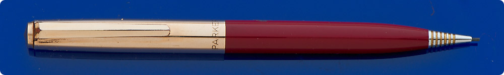 Parker #21 Custom Mechanical Pencil - 0.9mm - Gold Plated Cap - Burgundy Barrel - Original Price Sticker  - Twist Activated