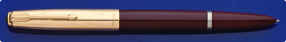 Parker #51 Burgundy Barrel - Gold Filled Cap - Aerometric Fill