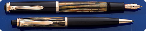 Pelikan #400  Set -  Brown Cap And Turning Knob - Tortoiseshell Barrels - Piston Fill
