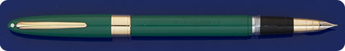 Sheaffer Snorkel - Green - Gold Filled Trim - Snorkel Fill