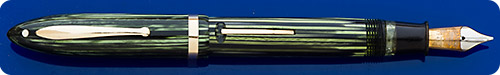 Sheaffer Sr. Lifeitime Balance - Green Striated - Gold Filled Trim - Lever Fill