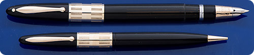 Sheaffer Lifetime Triumph Set - Black - Gold Filled Trim - Rod Filler - Original Box