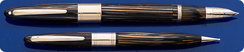 Sheaffer Lifetime #1250 Triumph Set - Golden Brown - Gold Filled Trim - Rod Filler - Original Box