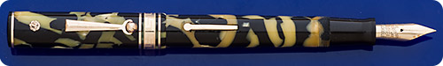 Wahl Eversharp Gold Seal Deco Band - Black And Pearl - Lever Fill - Gold Filled Trim - Light Discoloration -Great Writer