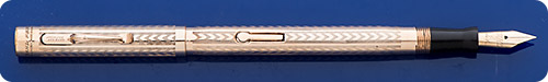 Wahl Eversharp #2 Size - Gold Filled - Chevron Design - Lever Fill