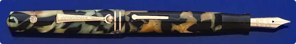 Wahl Eversharp Gold Seal Equipoise - Black And Pearl - Slight Discoloration - Lever Fill - Great Writer
