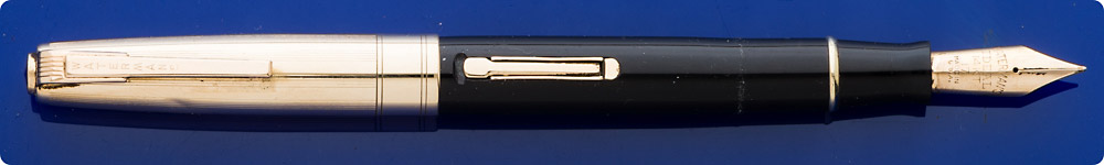 Waterman Stateleigh Taperite Fountain Pen - Black Barrel - Gold Filled Cap (Slight Ding) - Lever Fill